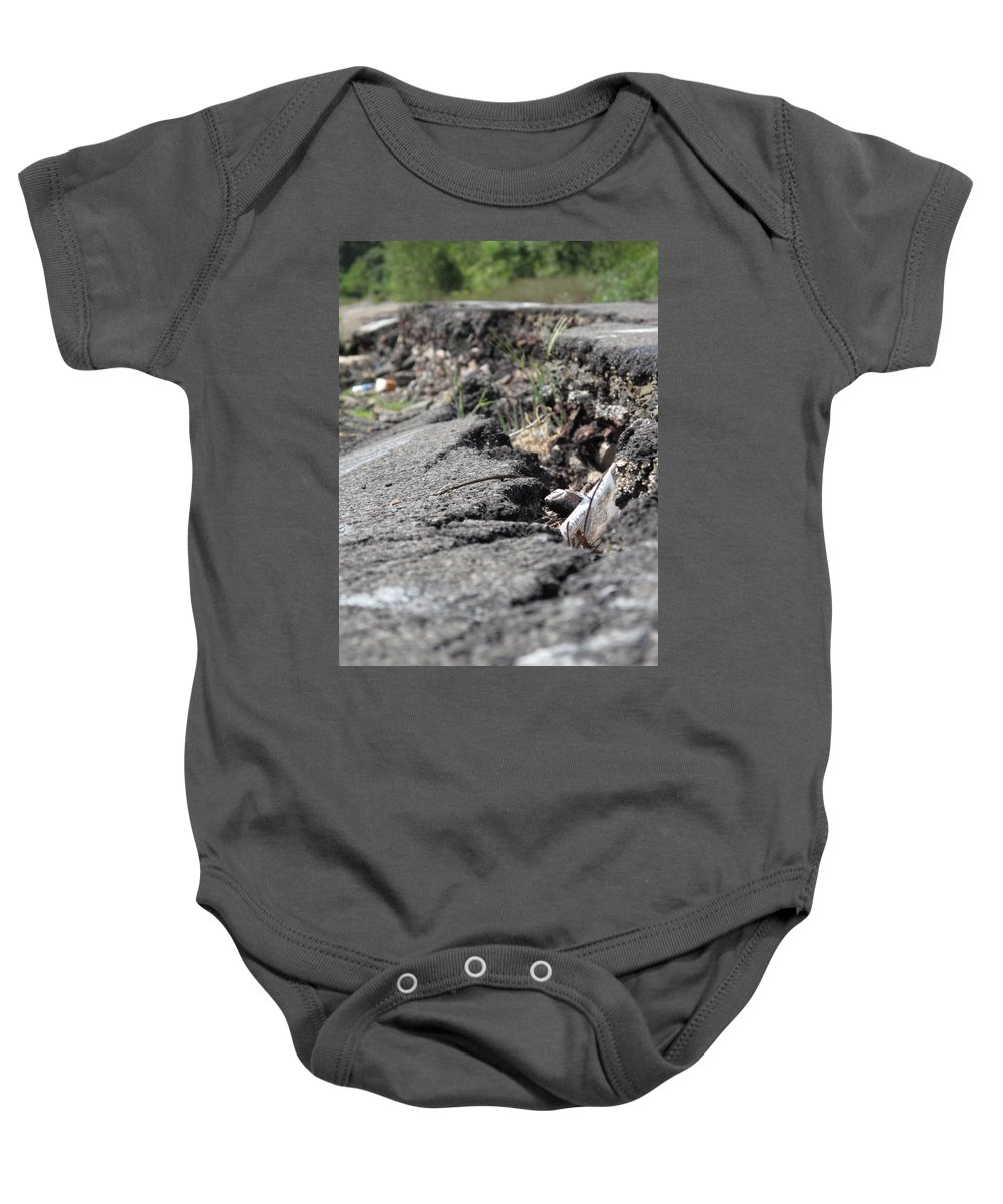 Centralia Pa Baby Onesie featuring the photograph Broken Dreams by Michele Nelson