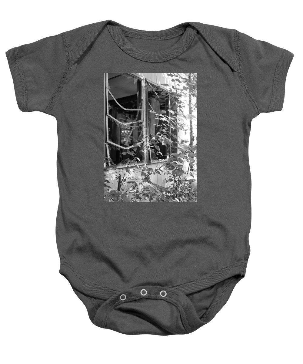 Trailer Baby Onesie featuring the photograph Broken Home by Michele Nelson