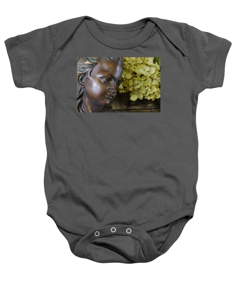 Bronze Baby Onesie featuring the photograph Bronze Gaze by Mick Anderson
