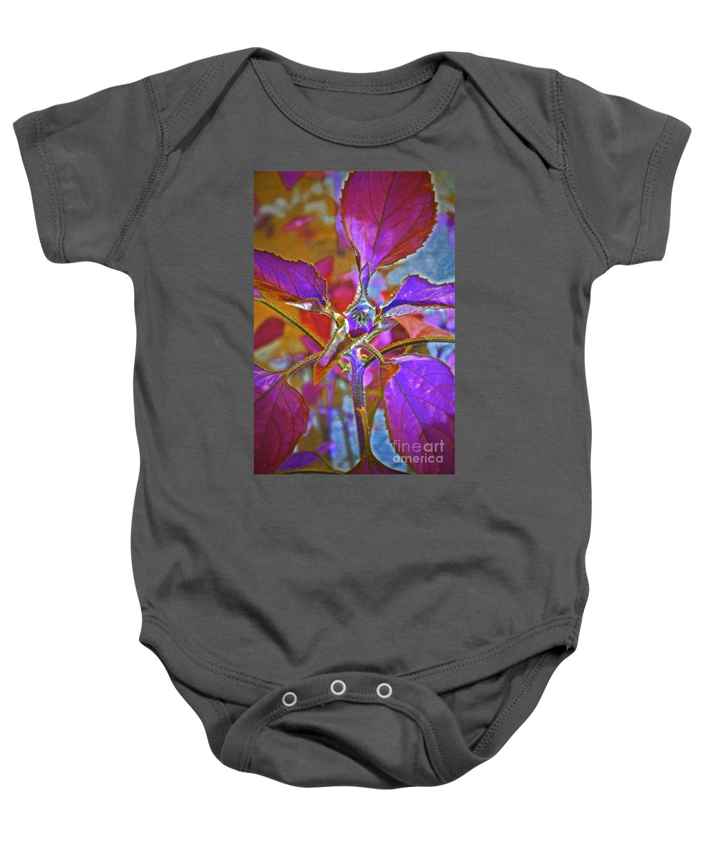 Sunflower Bud Baby Onesie featuring the photograph Budding Pink by Gwyn Newcombe
