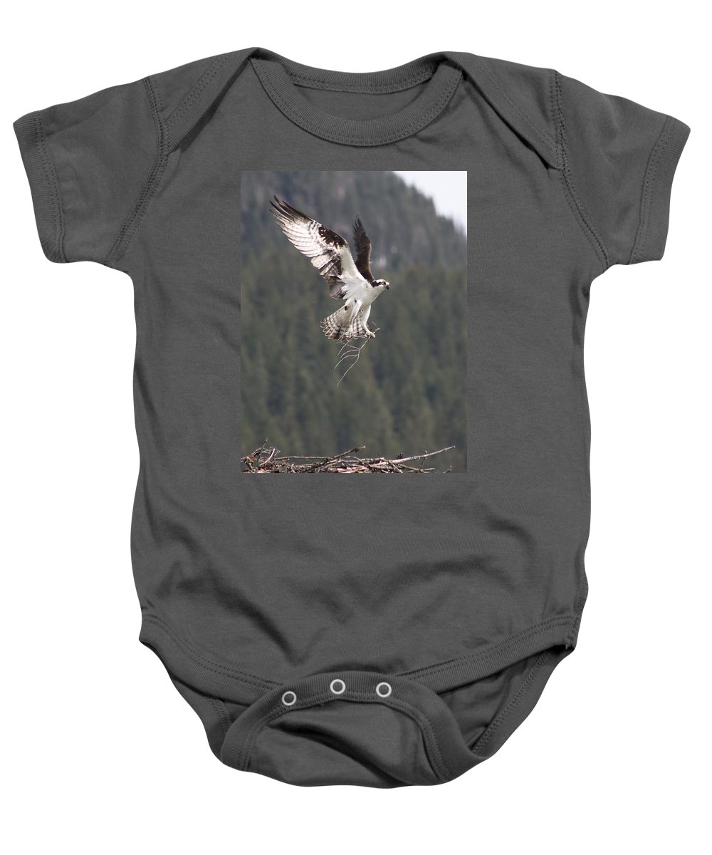 Osprey Baby Onesie featuring the photograph Building Supplies by Cathie Douglas