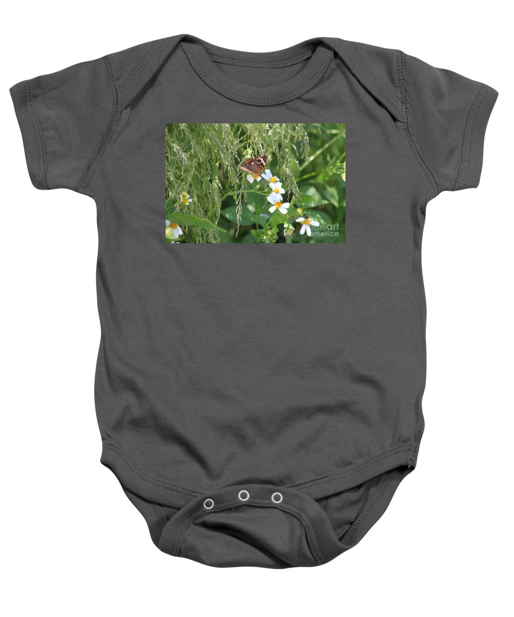 Butterfly Baby Onesie featuring the photograph Butterfly 15 by Michelle Powell