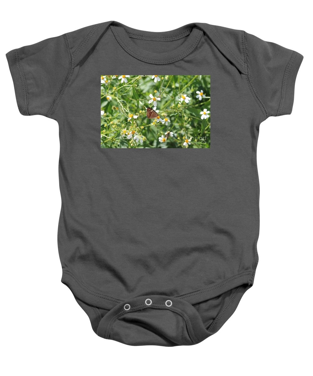 Butterfly Baby Onesie featuring the photograph Butterfly 32 by Michelle Powell
