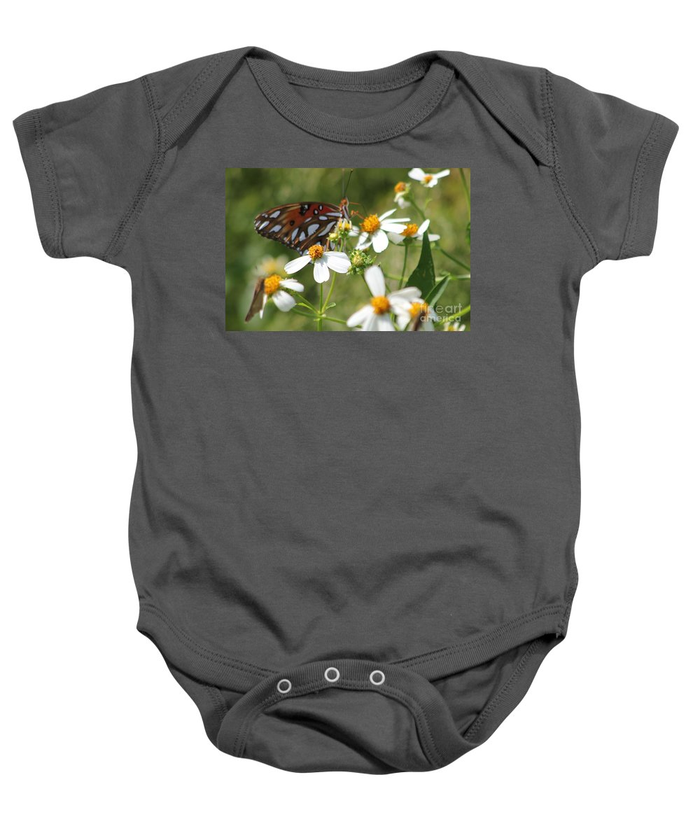 Butterfly Baby Onesie featuring the photograph Butterfly 41 by Michelle Powell