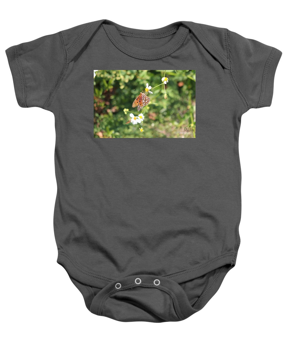 Butterfly Baby Onesie featuring the photograph Butterfly 46 by Michelle Powell