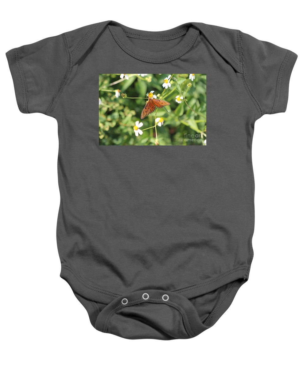 Butterfly Baby Onesie featuring the photograph Butterfly 48 by Michelle Powell