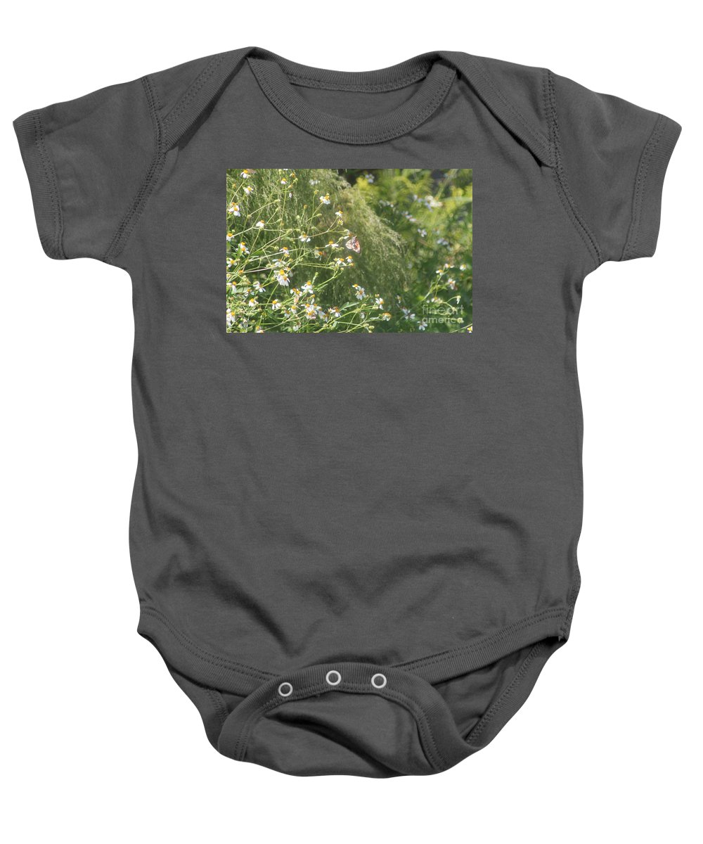 Butterfly Baby Onesie featuring the photograph Butterfly 49 by Michelle Powell
