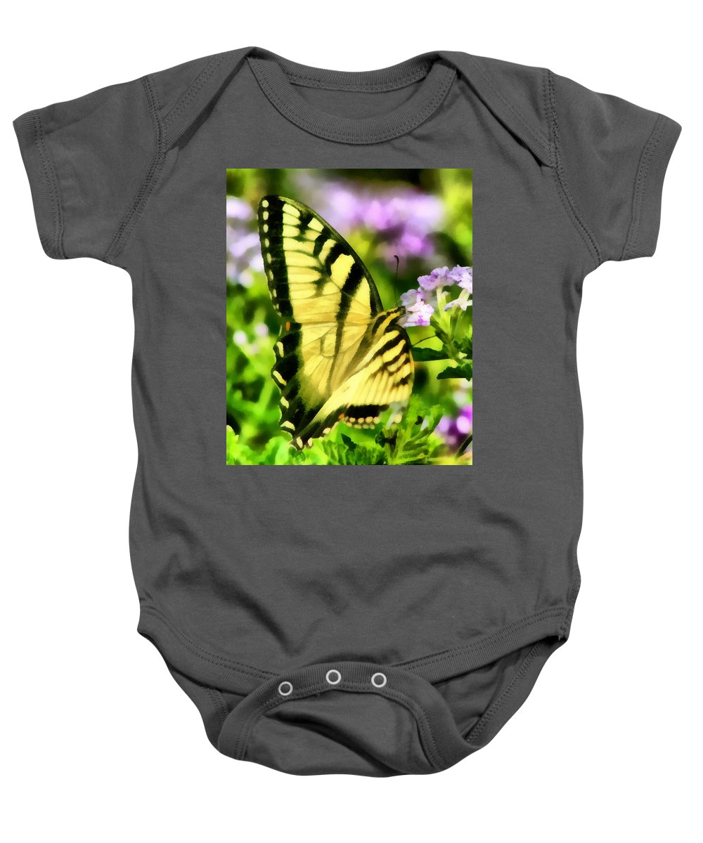 Butterfly Baby Onesie featuring the painting Butterfly by Lynne Jenkins