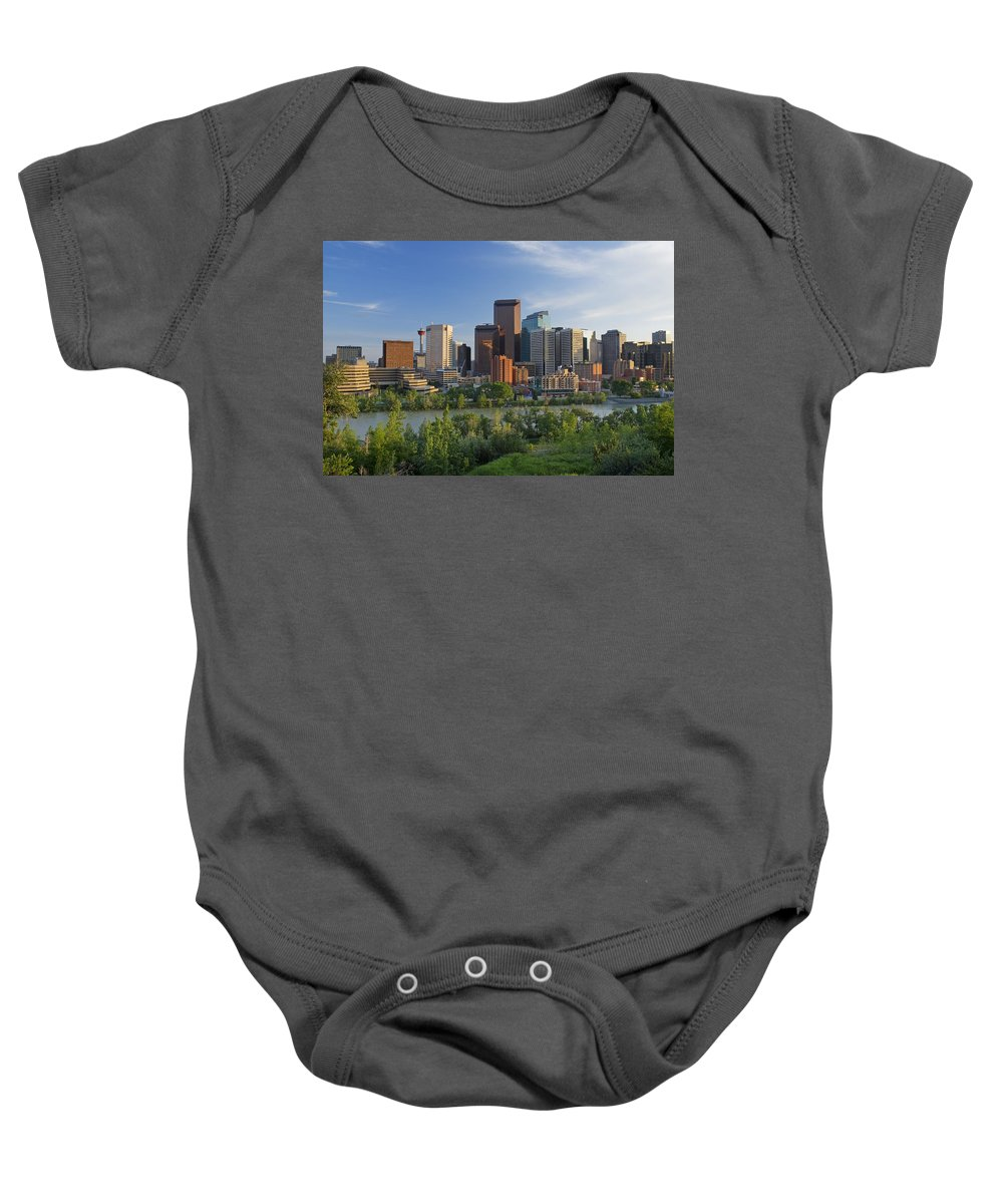 Skyscrapers Baby Onesie featuring the photograph Calgary, Alberta, Canada by Philippe Widling