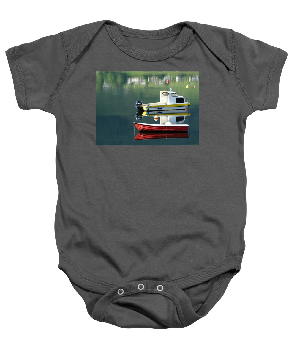 Rowing Baby Onesie featuring the photograph Calm Waters by Lynn Bolt