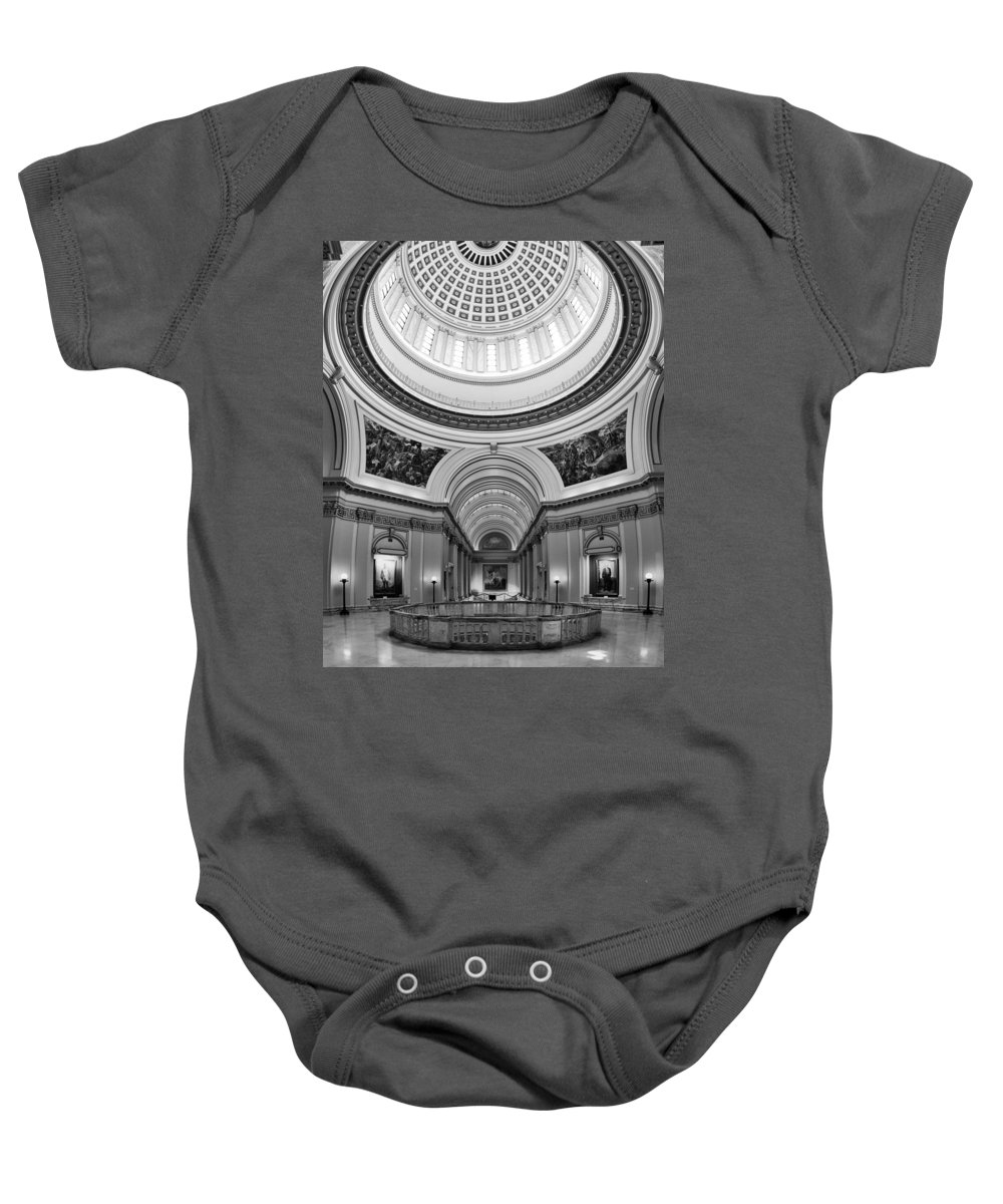 Administration Baby Onesie featuring the photograph Capitol Interior by Ricky Barnard