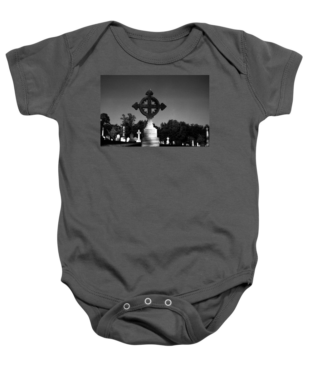 Louisiana Baby Onesie featuring the photograph Celtic Cross- Natchez Mississippi by Doug Duffey