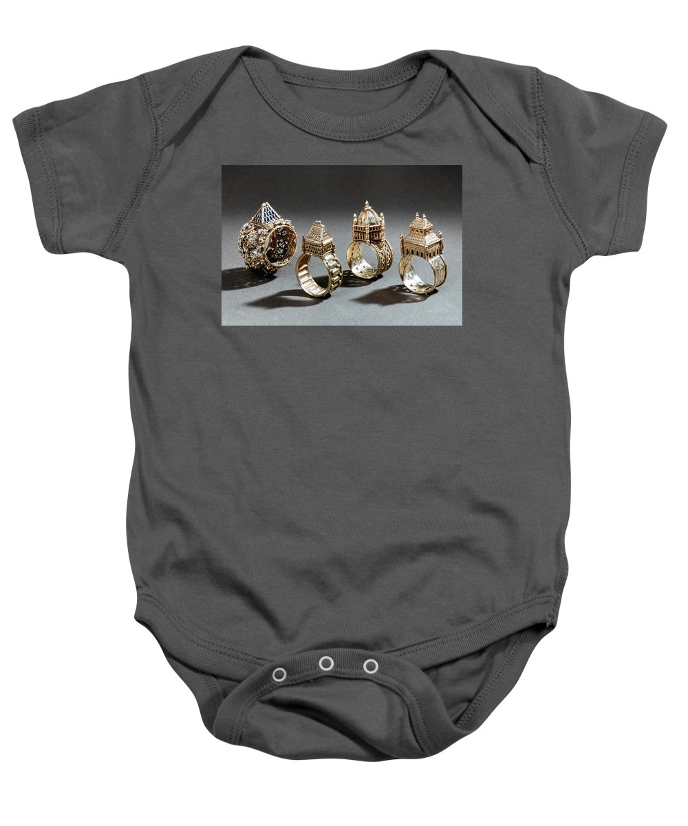 18th Century Baby Onesie featuring the photograph Ceremonial Marriage Rings by Granger