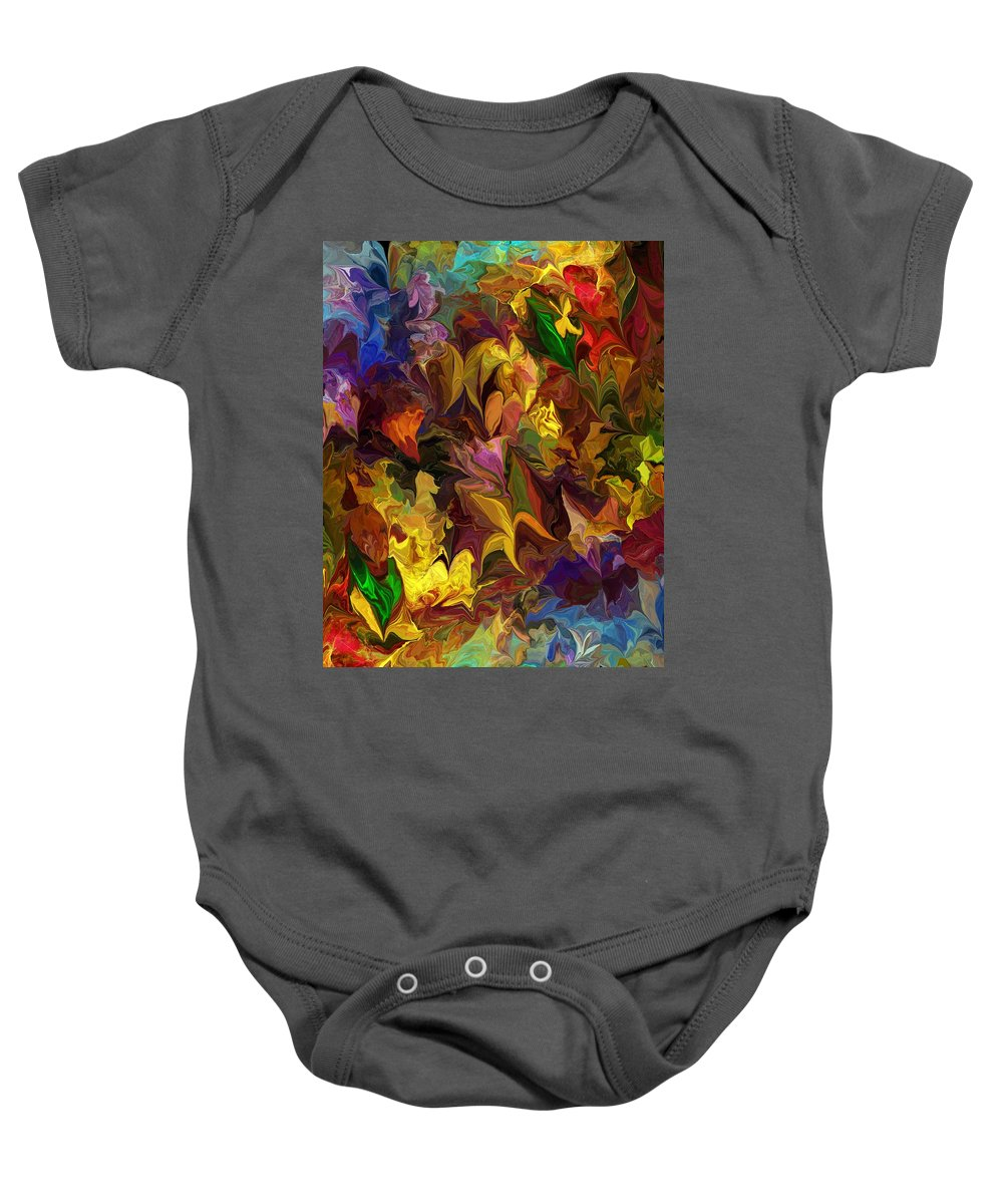 Fine Art Baby Onesie featuring the digital art Chaotic Canvas by David Lane