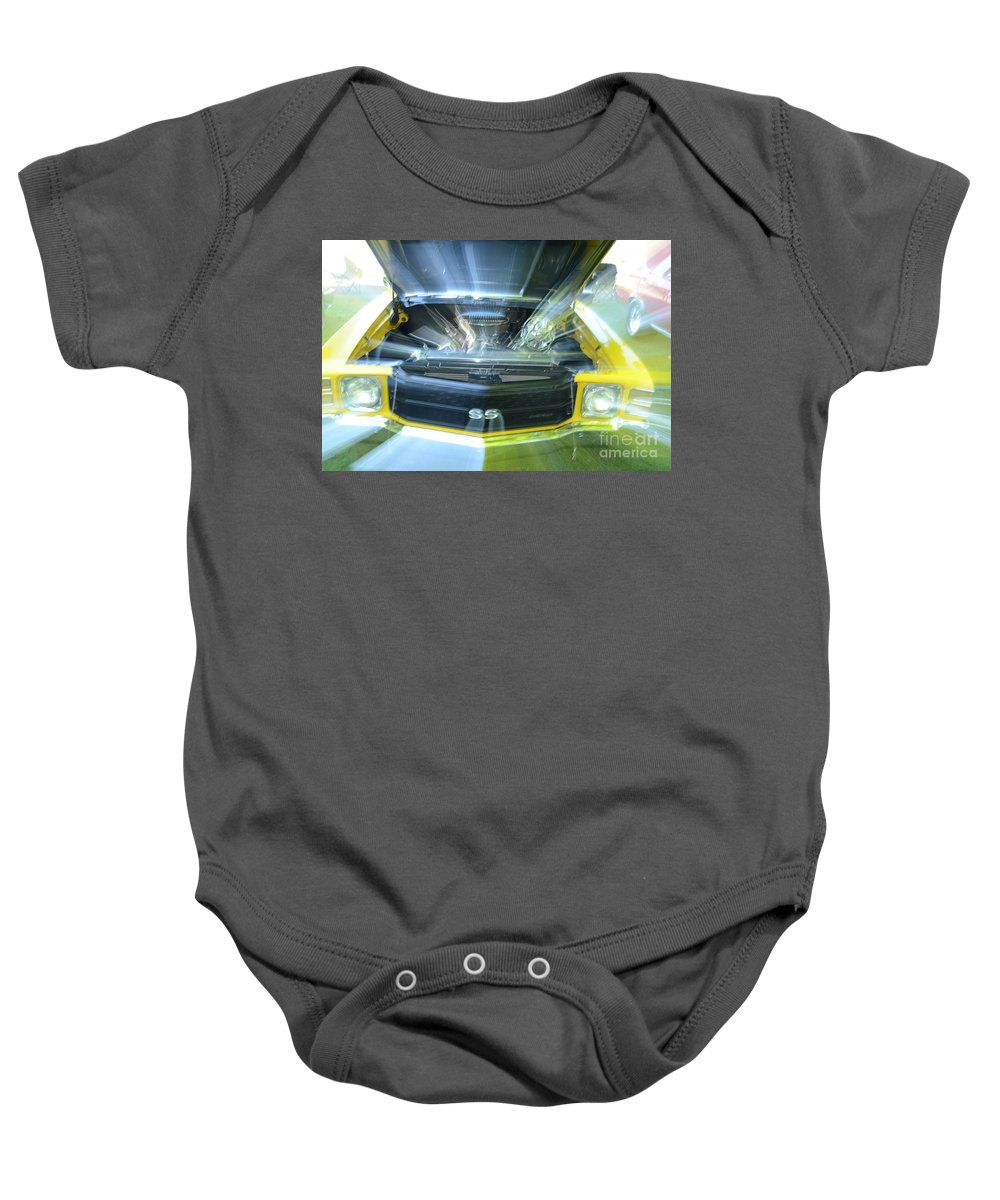 Chevy Baby Onesie featuring the photograph Chevele Super Sport by Randy J Heath