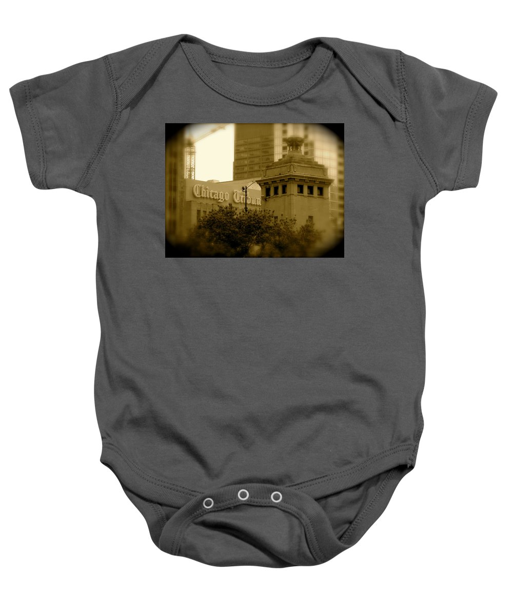 Chicago Baby Onesie featuring the photograph Chicago Impressions 7 by Marwan George Khoury