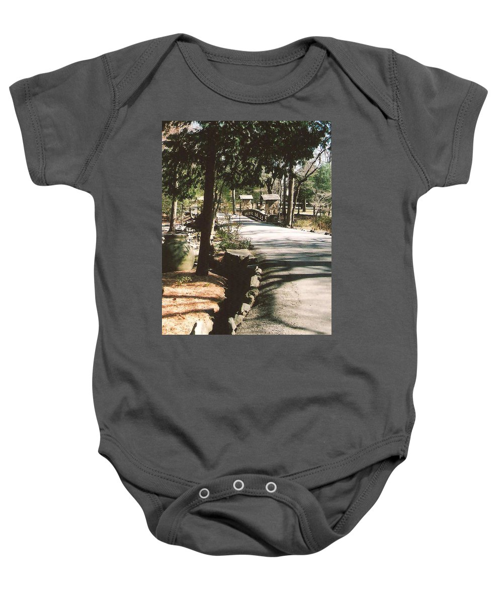 Road Baby Onesie featuring the photograph Chinqua-penn Road by Lee Hartsell