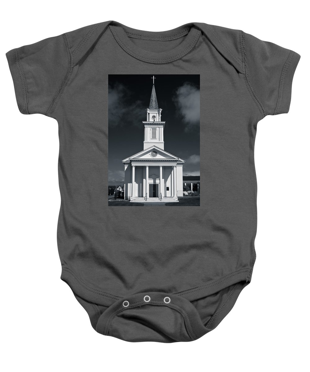 Eureka Baby Onesie featuring the photograph Church In Eureka by Greg Nyquist