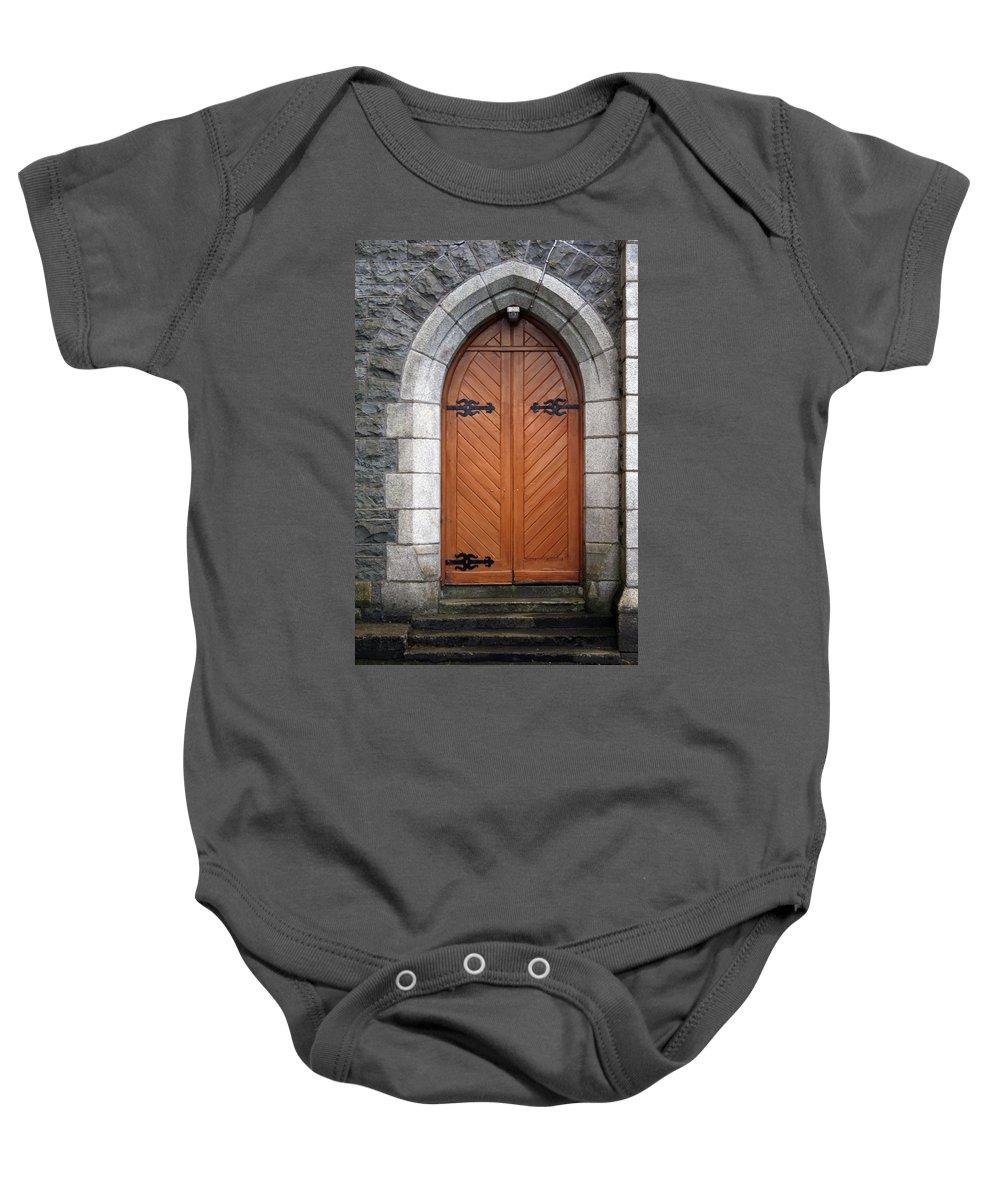 Church Baby Onesie featuring the photograph City 0030 by Carol Ann Thomas