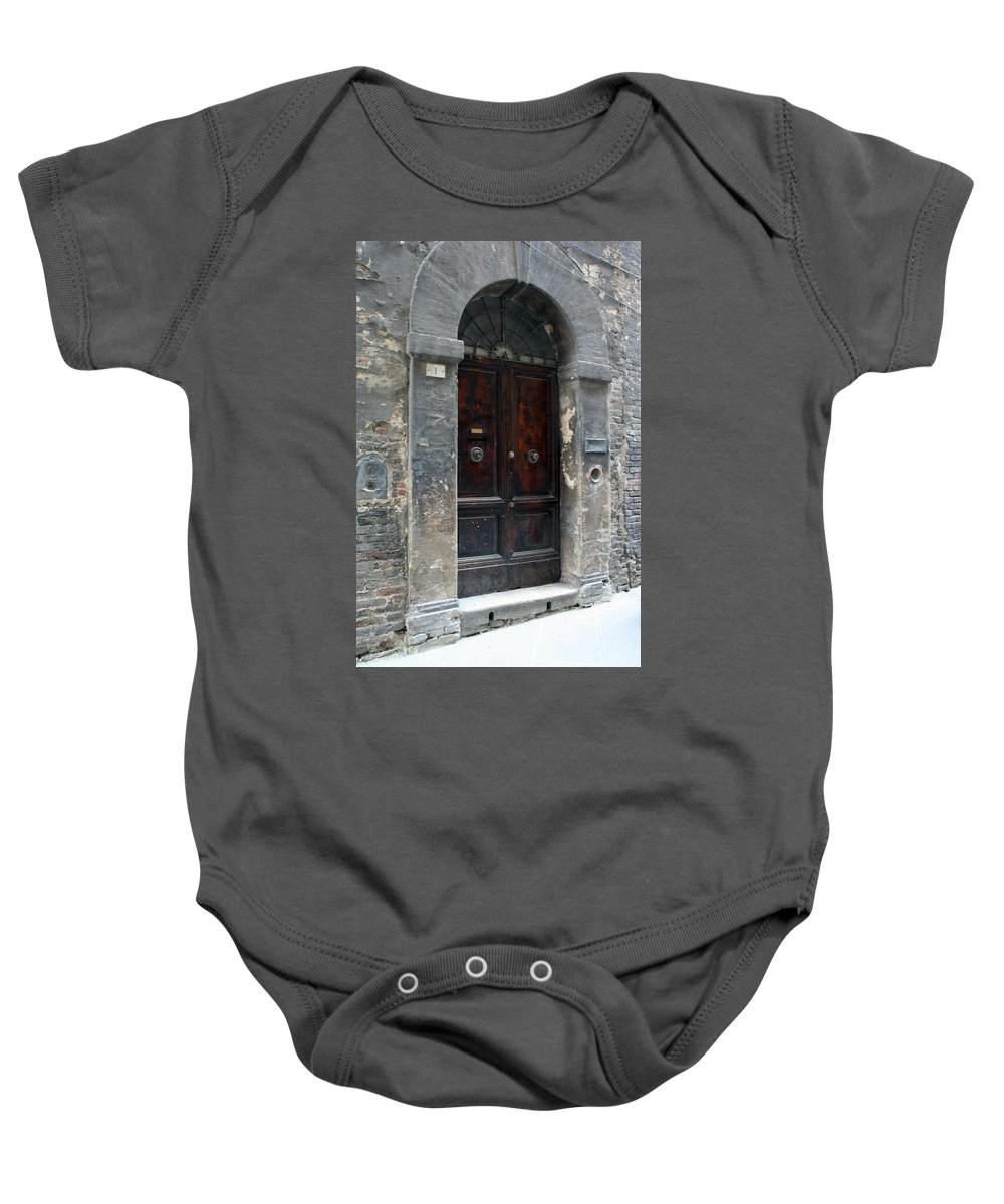 Door Baby Onesie featuring the photograph City 0037 by Carol Ann Thomas