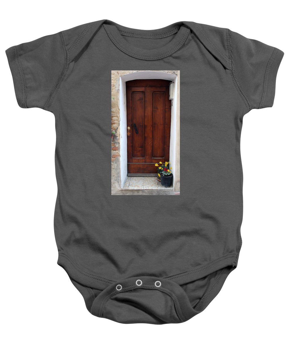 City Baby Onesie featuring the photograph City 0038 by Carol Ann Thomas