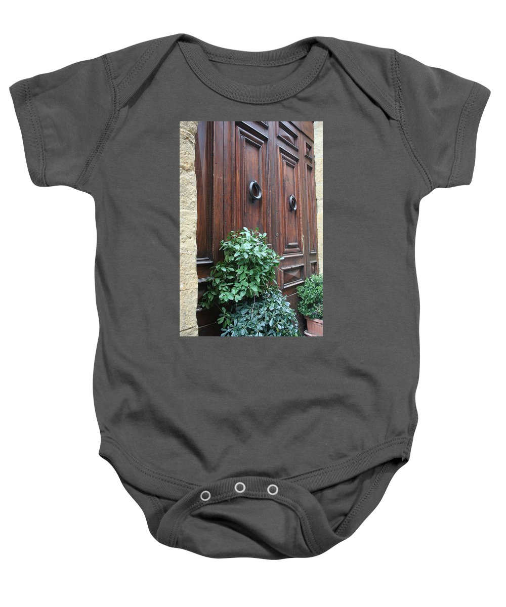 Door Baby Onesie featuring the photograph City 0041 by Carol Ann Thomas