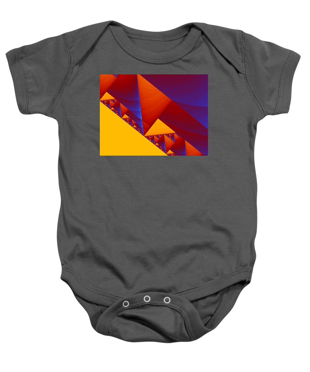 Abstract Design Baby Onesie featuring the digital art City On A Hill by Georgiana Romanovna