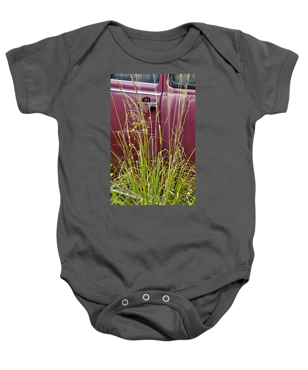 Volkswagen Baby Onesie featuring the photograph Classic Red by Carolyn Marshall
