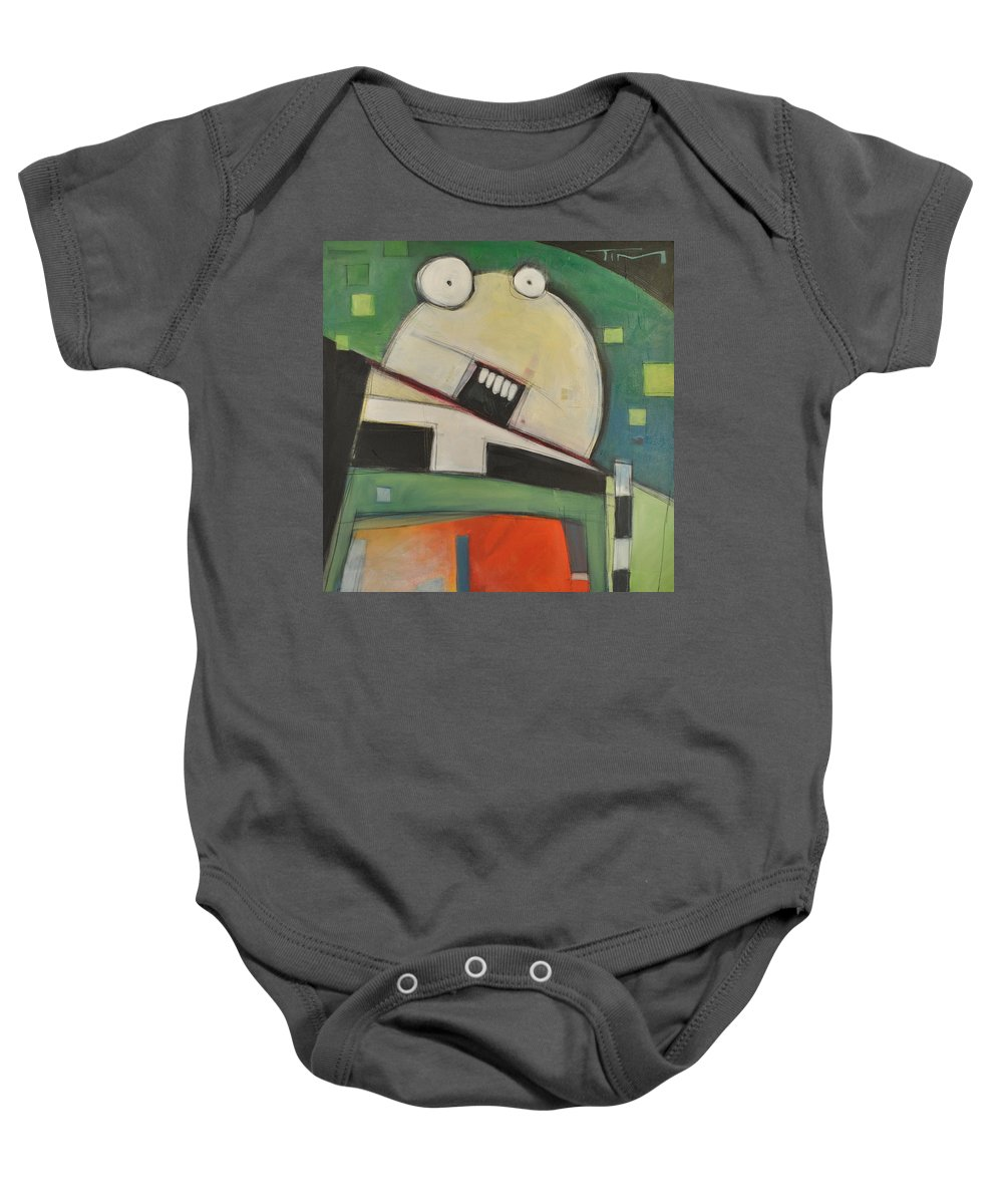 Cartoon Baby Onesie featuring the painting Clergy Pants On Fire by Tim Nyberg