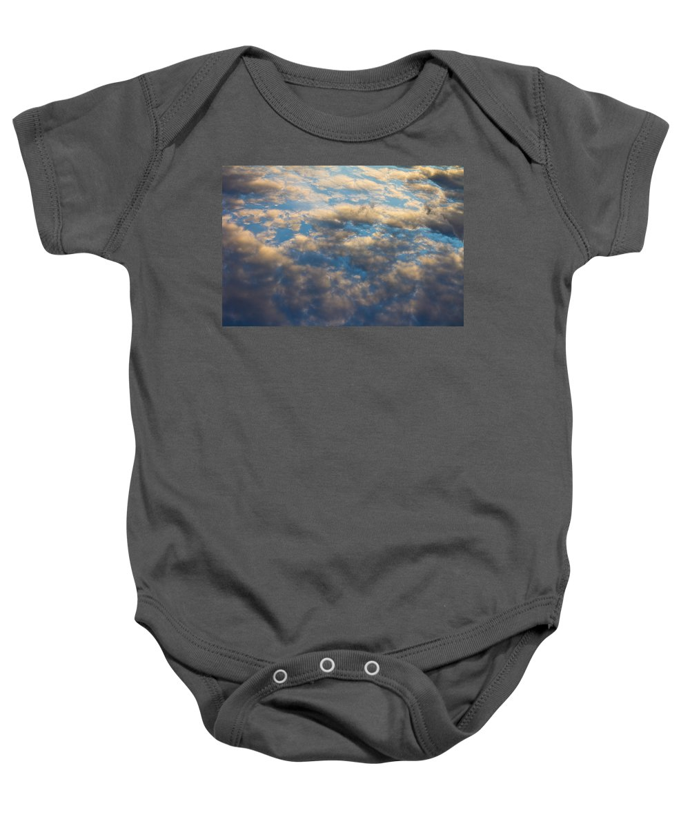 Clouds Baby Onesie featuring the photograph Cloud Imagery by David Pyatt