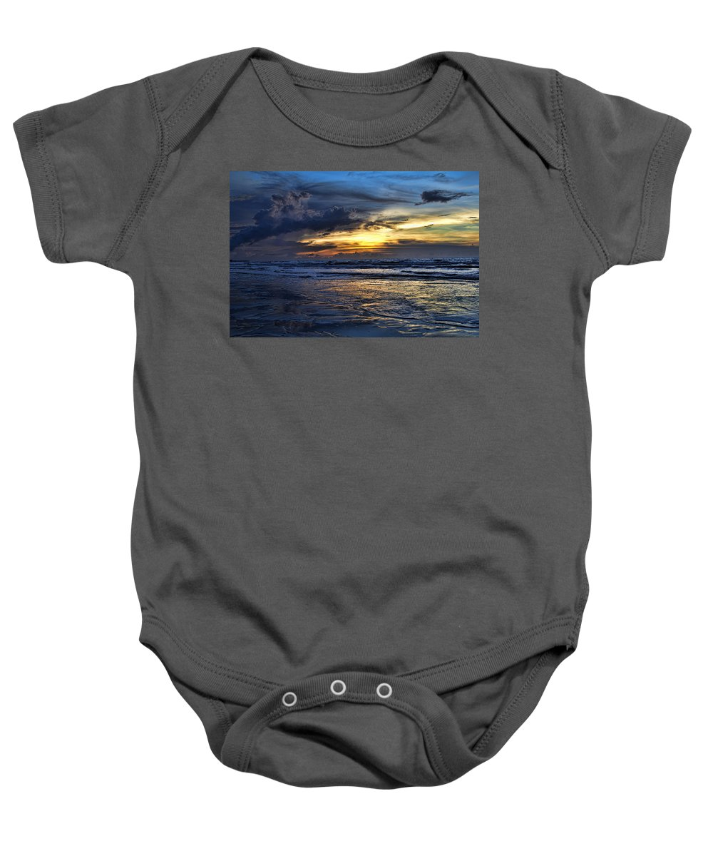 Sunset Baby Onesie featuring the photograph Color Of Light V3 by Douglas Barnard