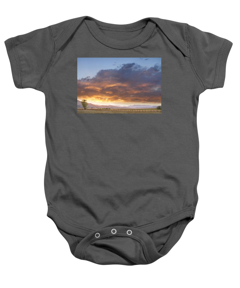 Sunset Baby Onesie featuring the photograph Colorado Evening Light by James BO Insogna