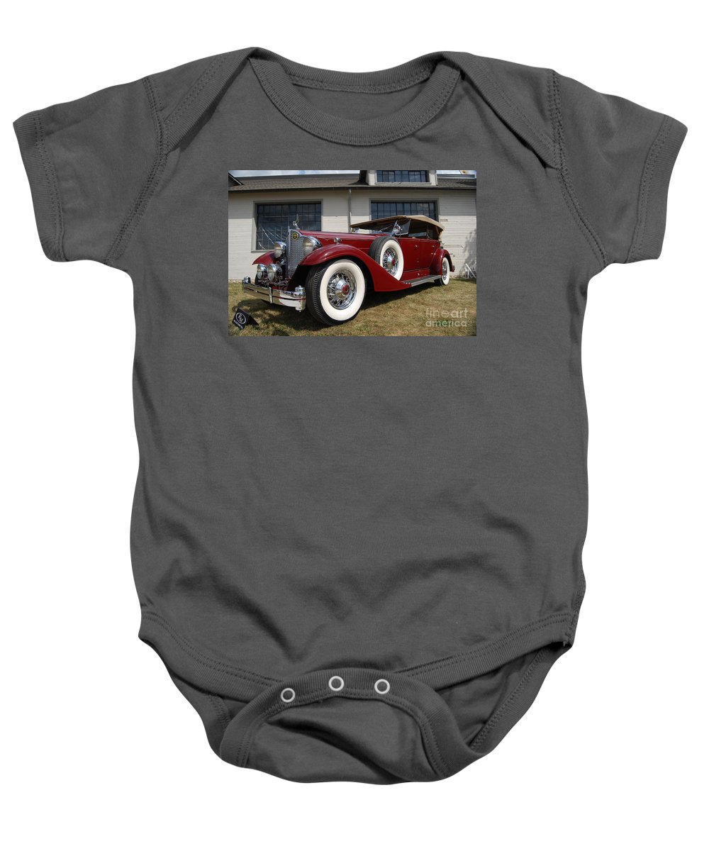 Red Baby Onesie featuring the photograph Concours D ' Elegance 1 by Grace Grogan