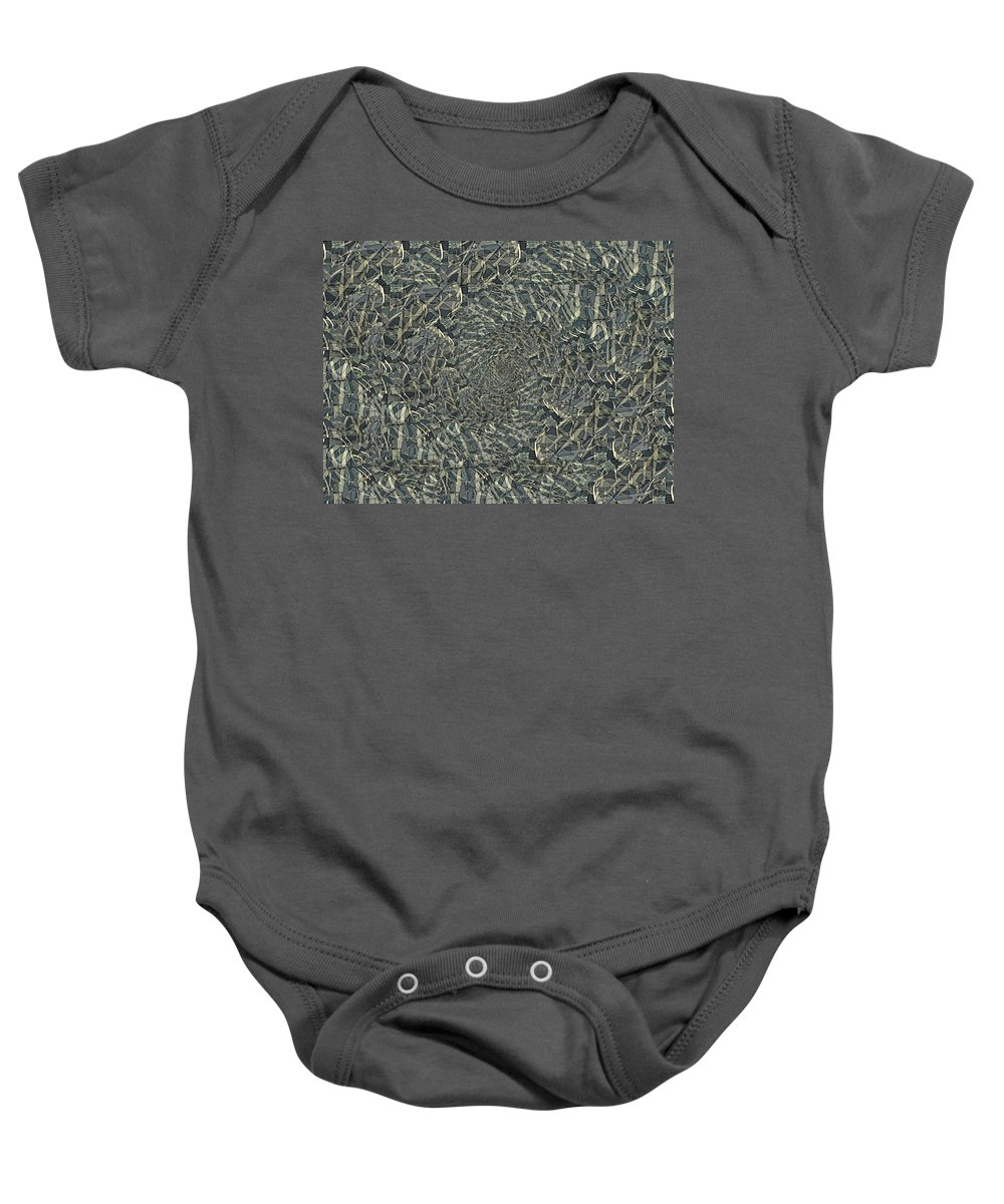 Abstract Baby Onesie featuring the digital art Confetti Twister by Tim Allen