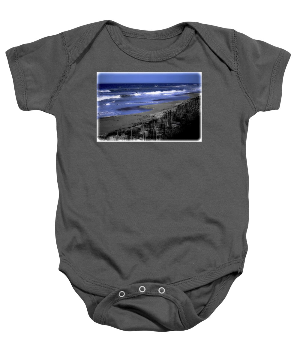 Ocean Baby Onesie featuring the photograph Continue With This Dream by DigiArt Diaries by Vicky B Fuller