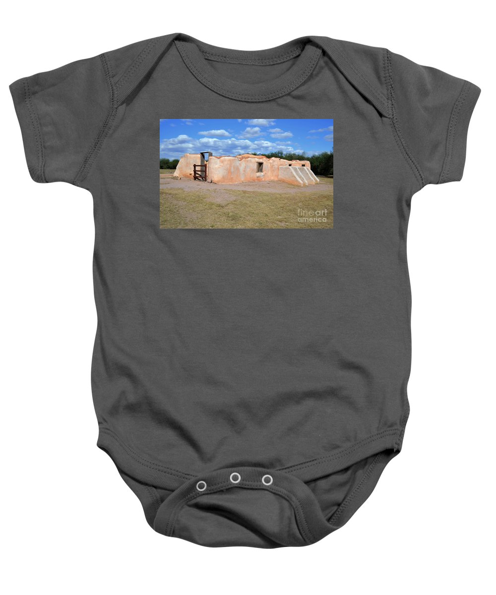 Fine Art Photography Baby Onesie featuring the photograph Convento by Donna Greene