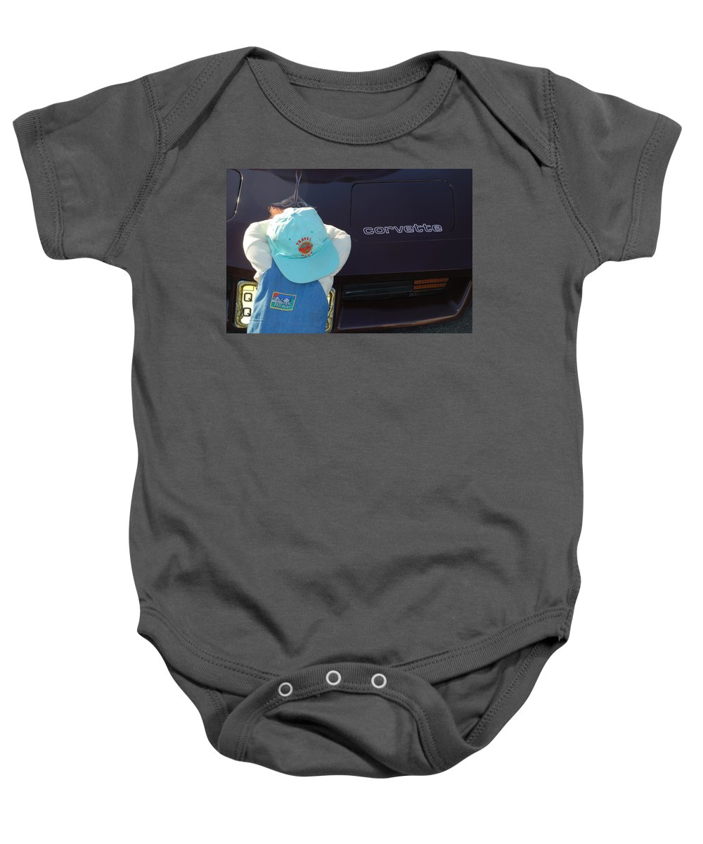 Corvette Baby Onesie featuring the photograph Corvette Crier by Richard Bryce and Family