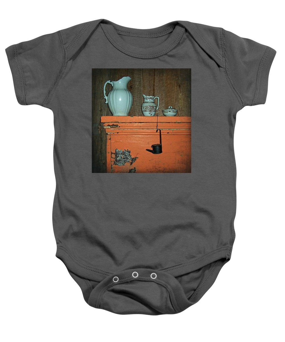 Country Baby Onesie featuring the photograph Country At Its Best by Kathy Clark
