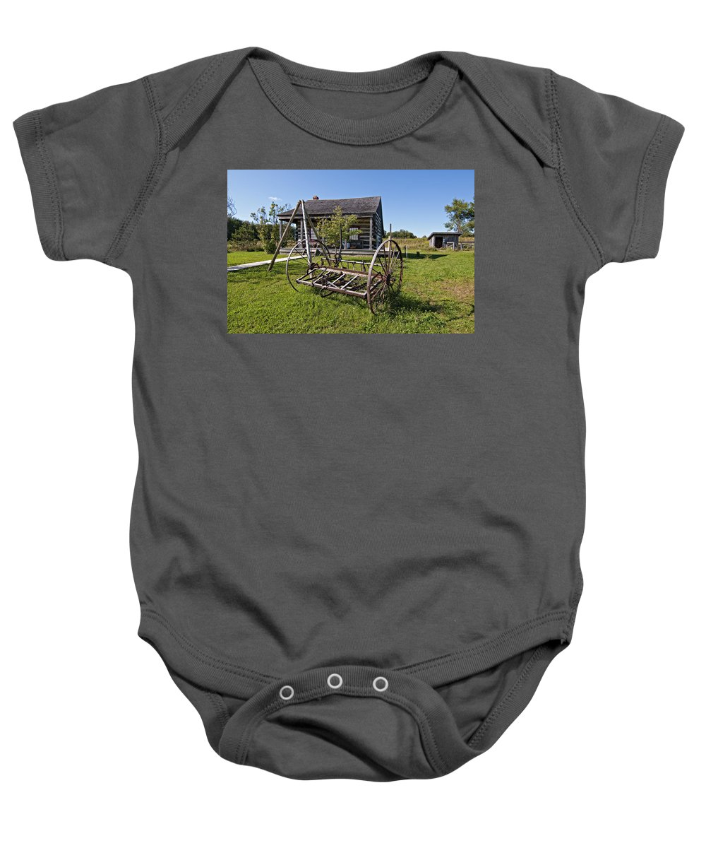 Grey Roots Museum & Archives Baby Onesie featuring the photograph Country Classic by Steve Harrington