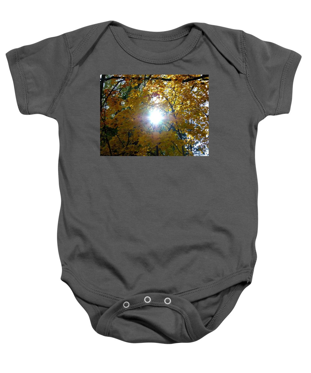 Autumn Baby Onesie featuring the photograph Country Color 3 by Will Borden