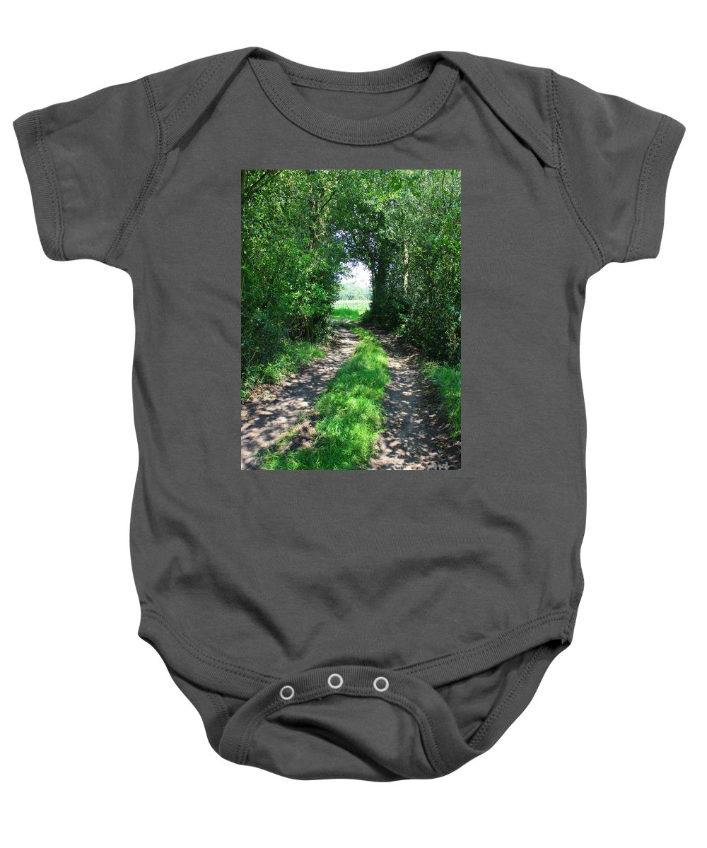 Country Road Baby Onesie featuring the photograph Country Road by Carol Groenen