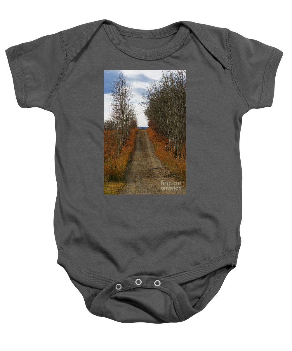 Country Roads Baby Onesie featuring the photograph Country Roads by Randy Harris