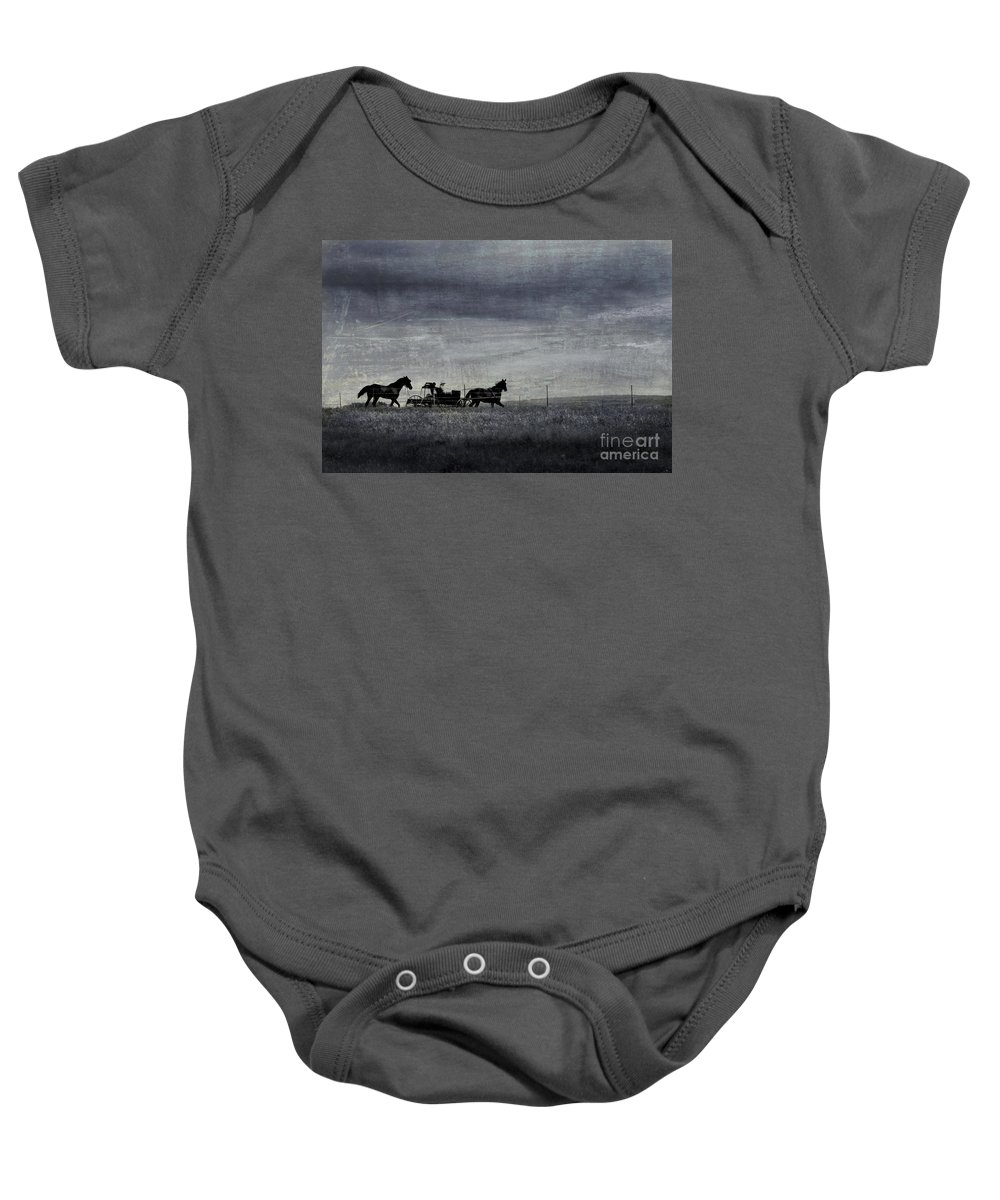 Wagon Baby Onesie featuring the photograph Country Wagon by Perry Webster