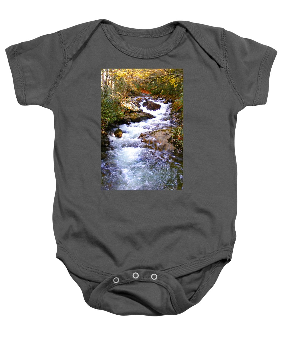 Rivers Baby Onesie featuring the photograph Courthouse River In The Fall Filtered by Duane McCullough