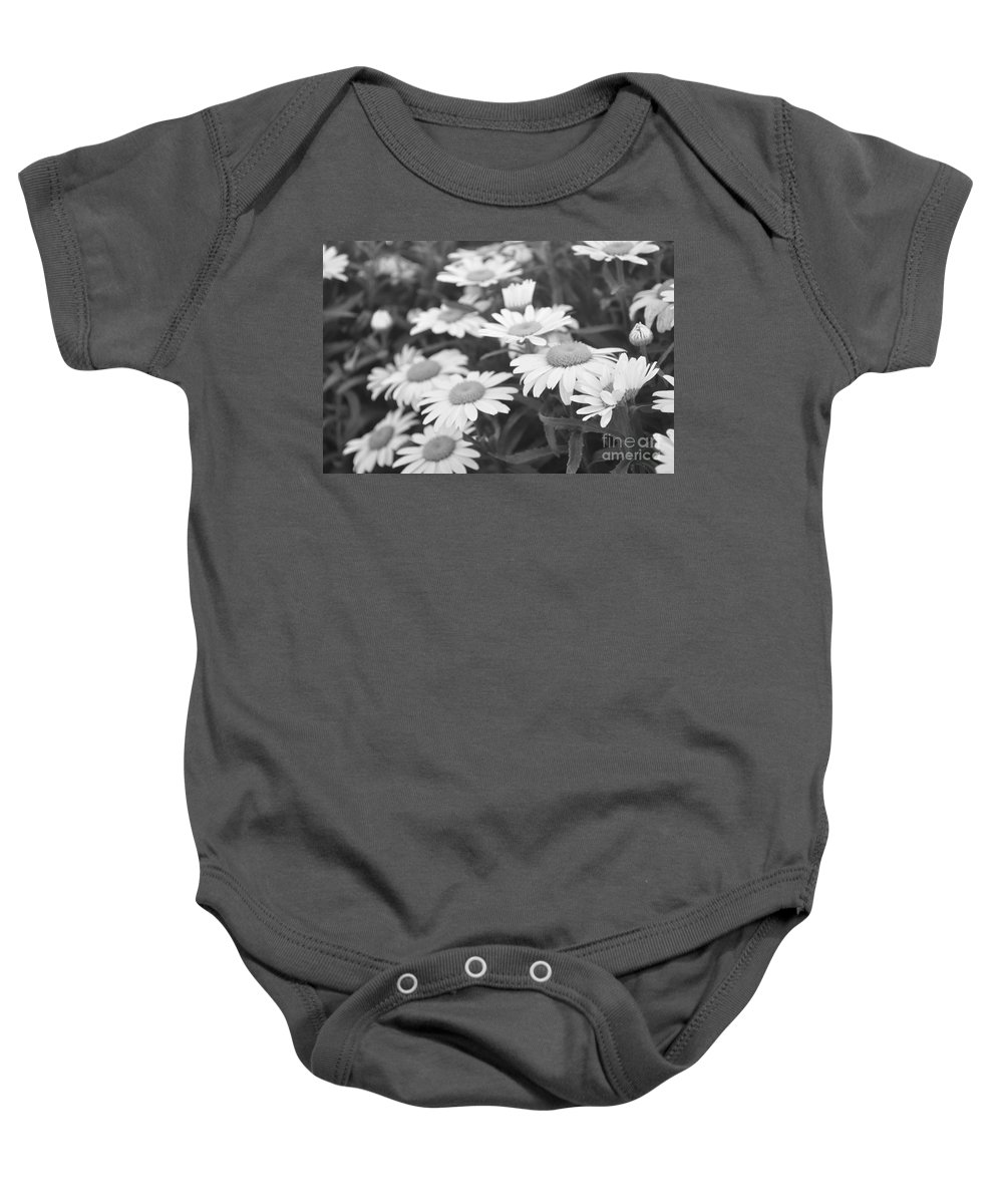 Daisy Photographs Baby Onesie featuring the photograph Daisies by Catherine Conroy