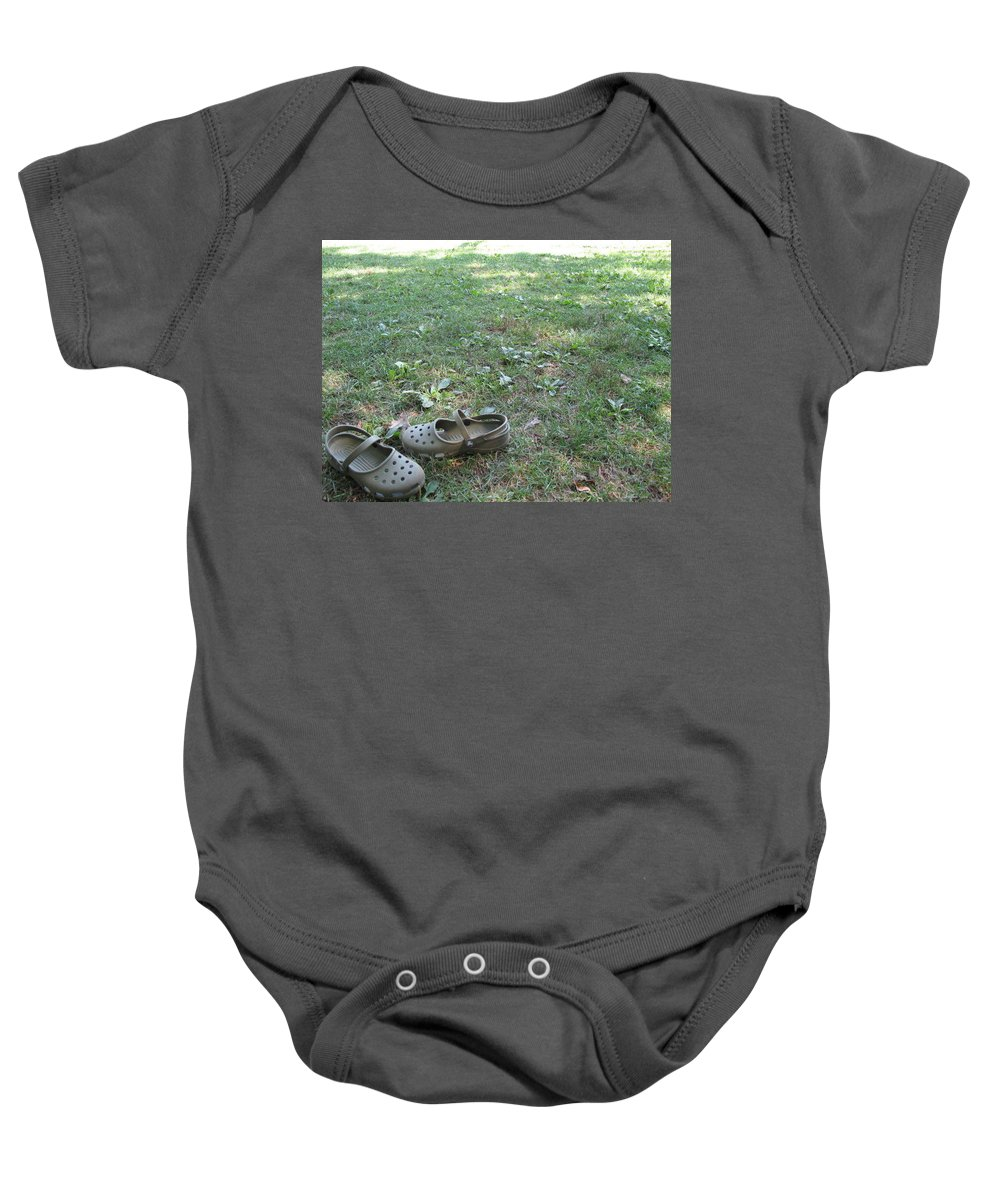 Green Baby Onesie featuring the photograph Day At The Lake by Michele Nelson