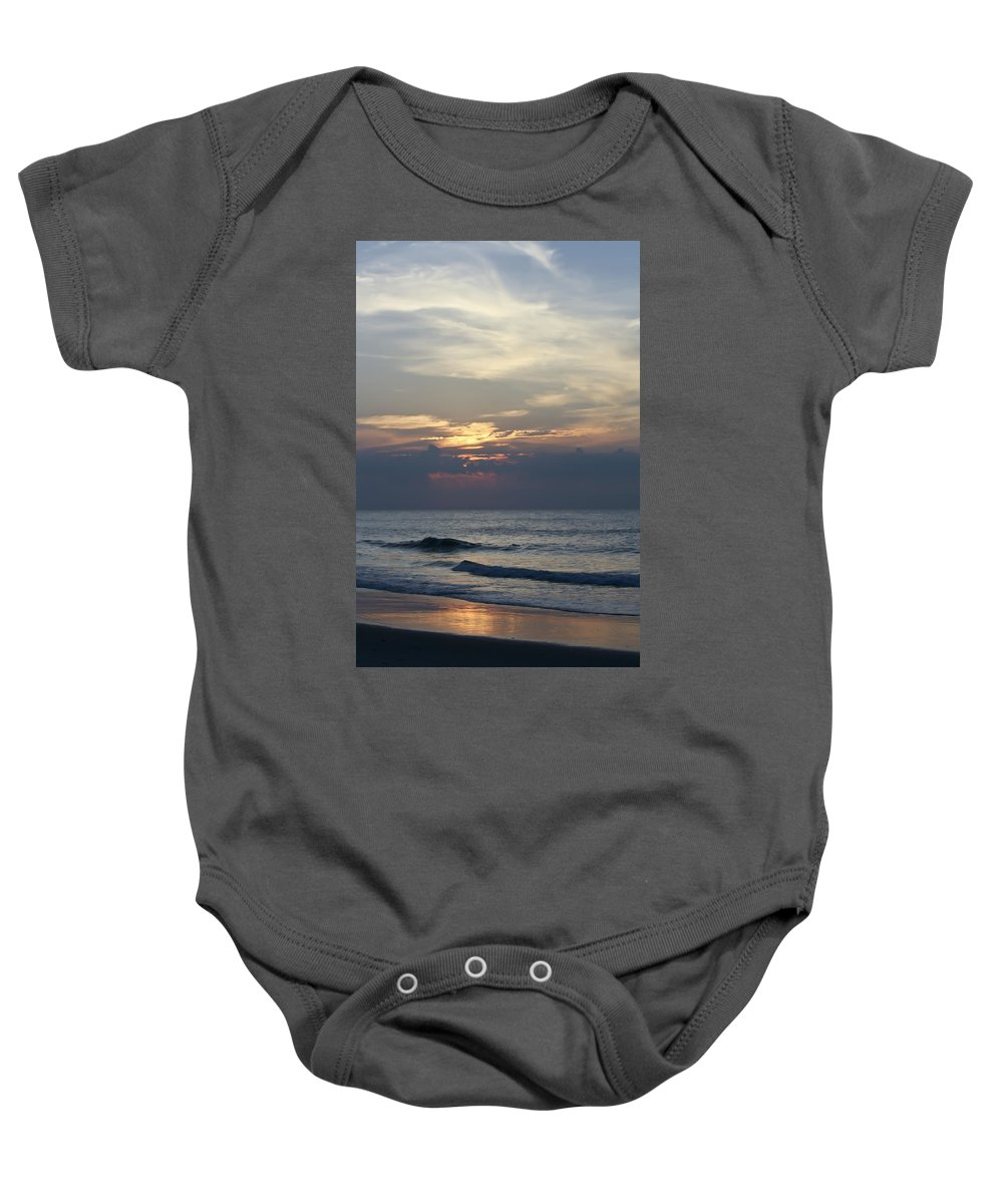 Sunrise Baby Onesie featuring the photograph Daylight Approaches 2 by Teresa Mucha