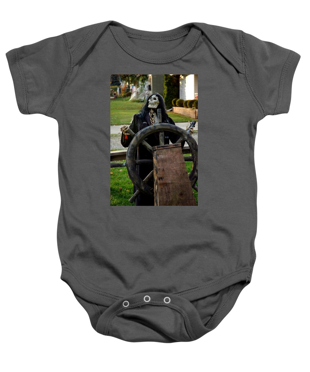 Usa Baby Onesie featuring the photograph Death Steers The Ship by LeeAnn McLaneGoetz McLaneGoetzStudioLLCcom