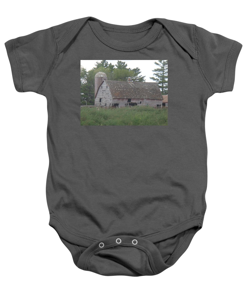 Barn Baby Onesie featuring the photograph Deserted Barn by Bonfire Photography