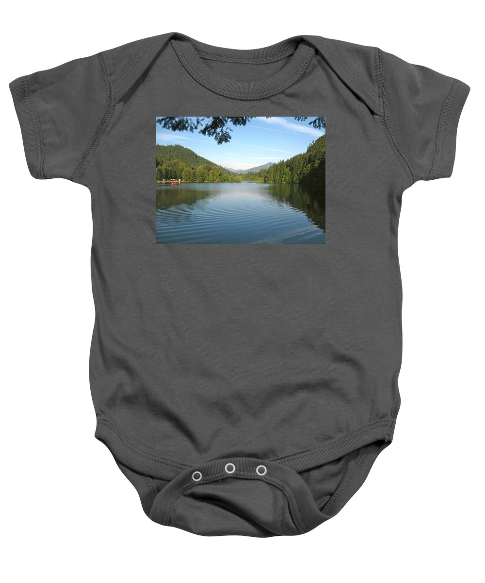 Lake Baby Onesie featuring the photograph Detroit Lake by Linda Hutchins